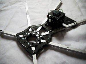 Flyduspider Rahmen aufgebaut