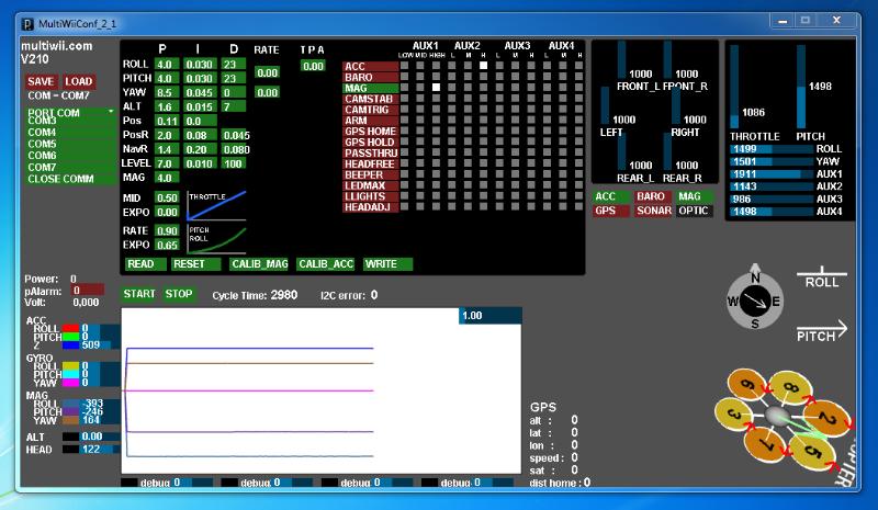MultiWii GUI mit Bluetooth Verbindung