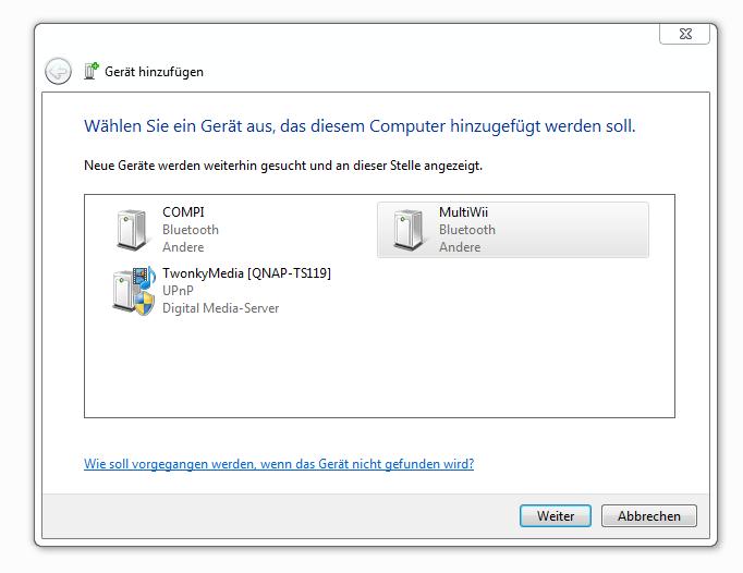 Windows 7 Bluetooth Geräte