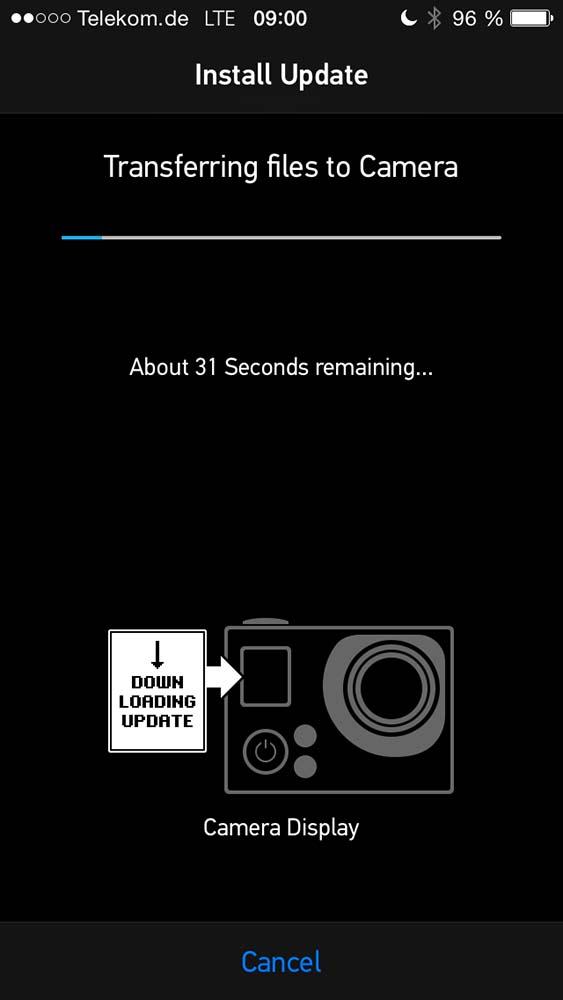 GoPro Hero 3+ Update Prozess