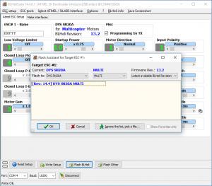 BLHeliSuite - Firmware auswählen
