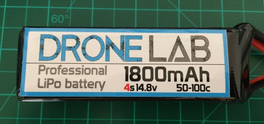 DroneLab 4S 1800 mAh 50-100C - Front Side