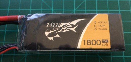Tattu 4S 1800 mah 75C - Front side