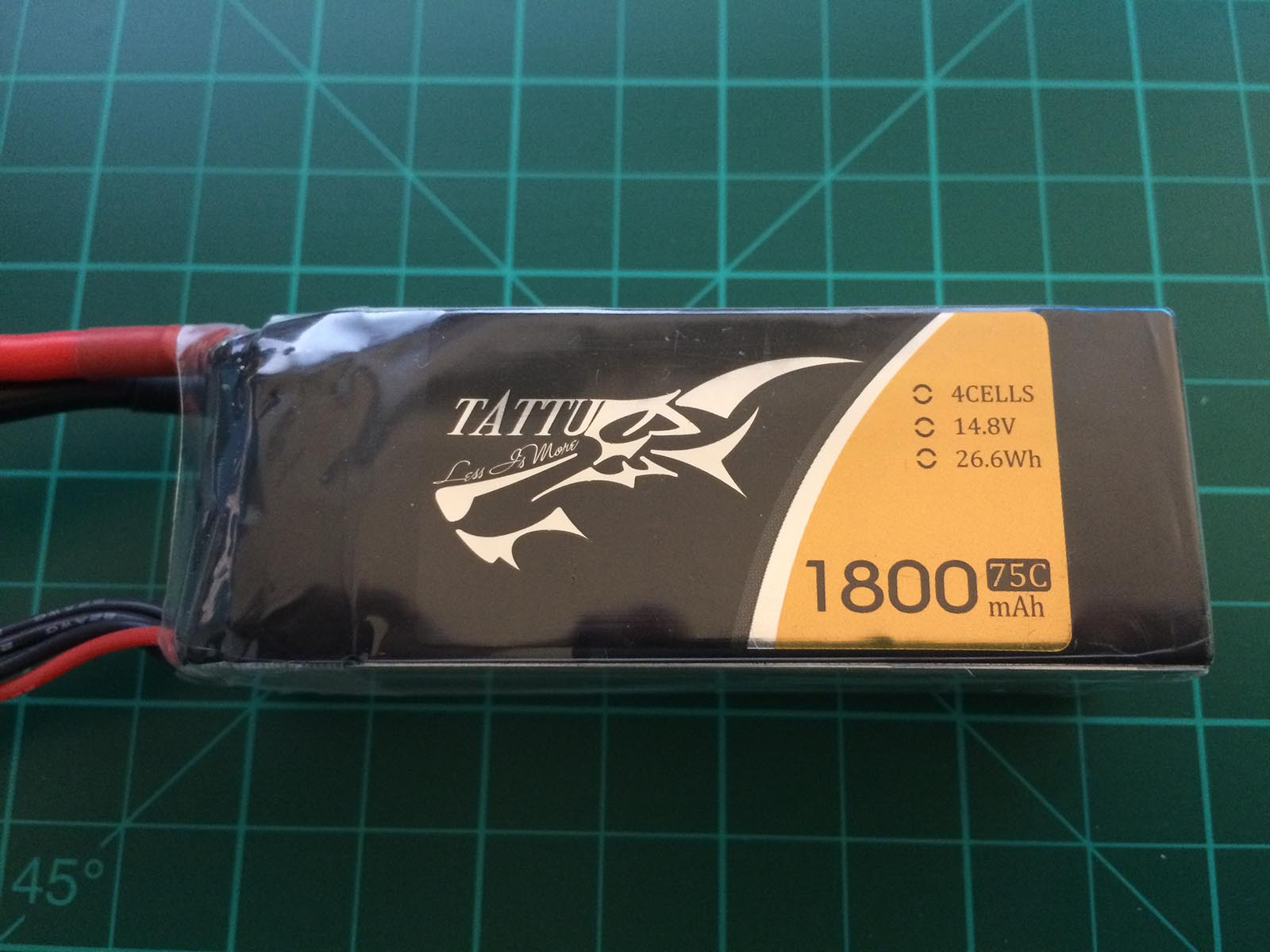 Tattu 4S 1800 mah 75C - Front side
