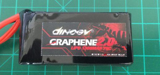 Dinogy Graphene 2.0 4S 1300 mAh 70C PT - Front Side