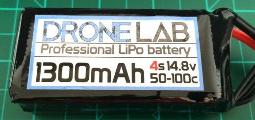 DroneLab 4S 1300 mAh 50-100C - Front Side