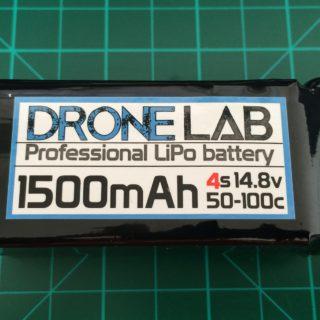 DroneLab 4S 1500 mAh 50-100C - Front Side