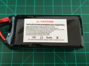 DroneLab 4S 1500 mAh 50-100C - Side View