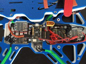 Flyduino KISS FC - Installed inside frame