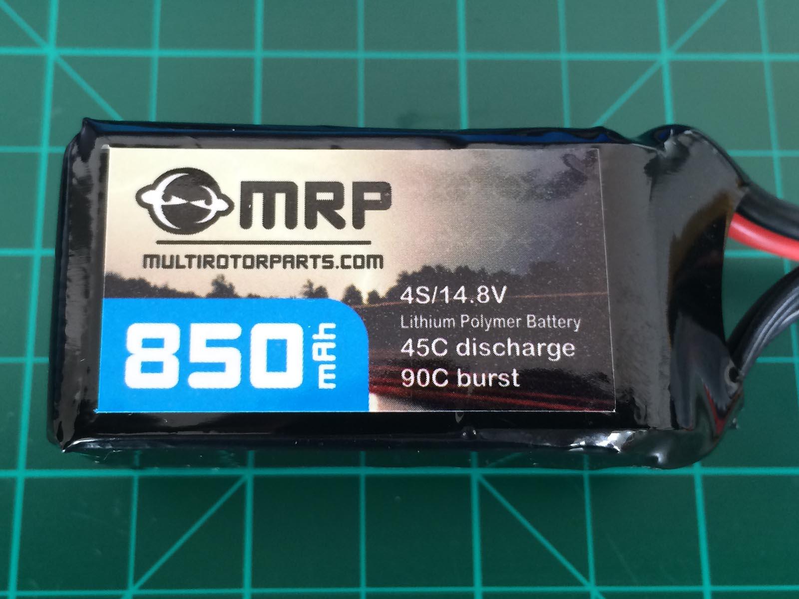 MRP 4S 1000 mAh 45-90 C - Front