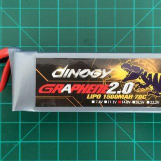 Dinogy Graphene 2.0 4S 1500 mAh 70C - Front