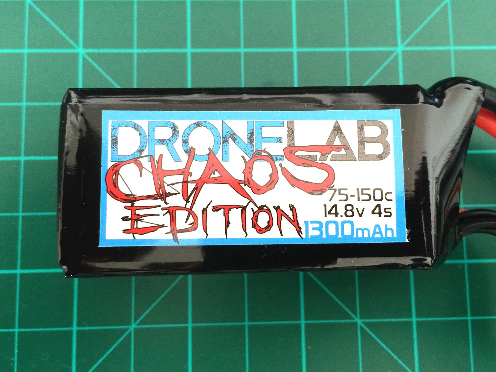 DroneLab CHAOS Edition 4S 1300 mAh 75-150 C - Front