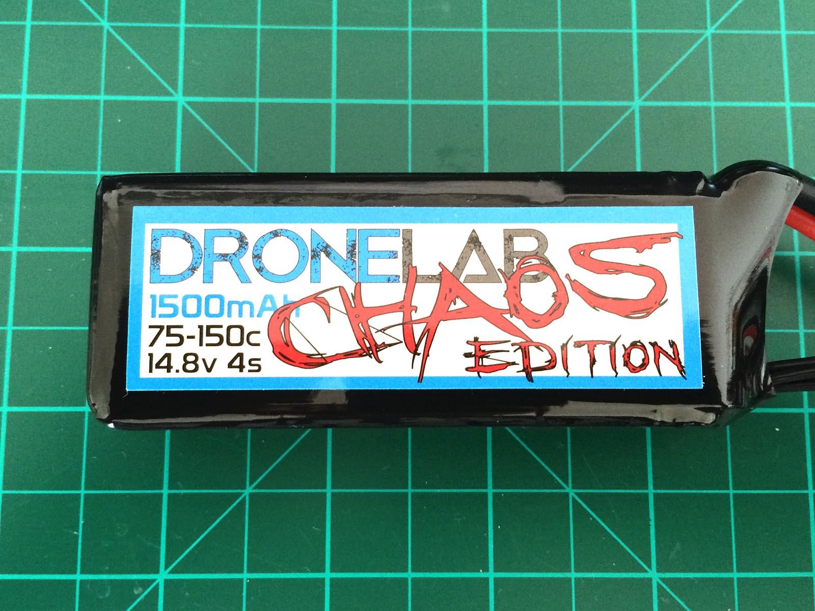 DroneLab CHAOS Edition 4S 1500 mAh 75-150 C - Front