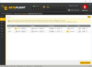 EX Bus Telemetrie BetaFlight - Ports NAZE32