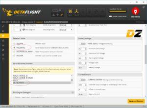 EX Bus Telemetrie BetaFlight - Serial Configuration