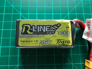 Tattu R-Line 4S 1300 mAh 95 C - Front View