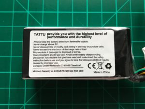 Tattu R-Line 4S 1300 mAh 95 C - Side View