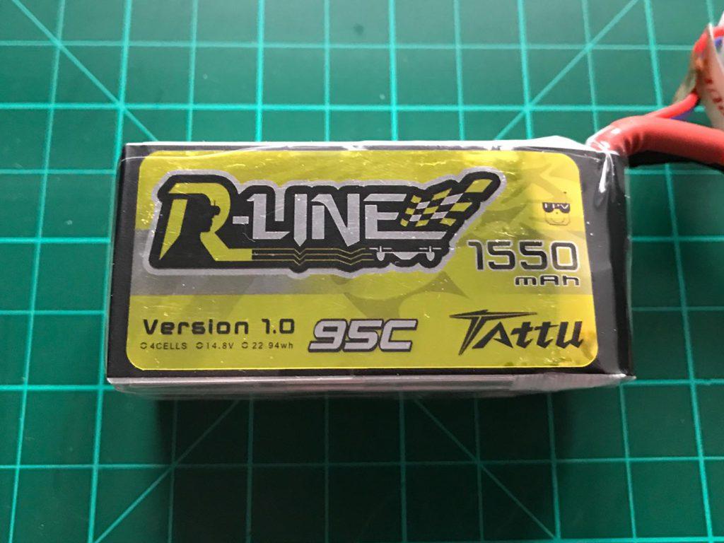 Tattu R-Line 4S 1550 mAh 95 C - Front View