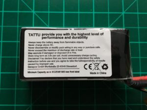 Tattu R-Line 4S 1550 mAh 95 C - Side View