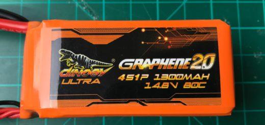 Dinogy Ultra Graphene 2.0 4S 1300 mAh 80C (New) - Front View