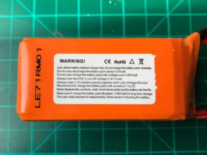 Dinogy Ultra Graphene 2.0 4S 1300 mAh 80C (New) - Side View