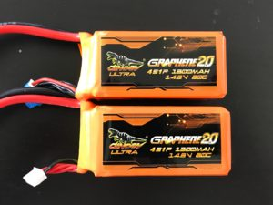 Dinogy Ultra Graphene 2.0 4S 1300 mAh 80C - Old vs New Front