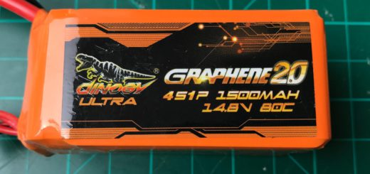 Dinogy Ultra Graphene 2.0 4S 1500 mAh 80C (Short version) - Front View