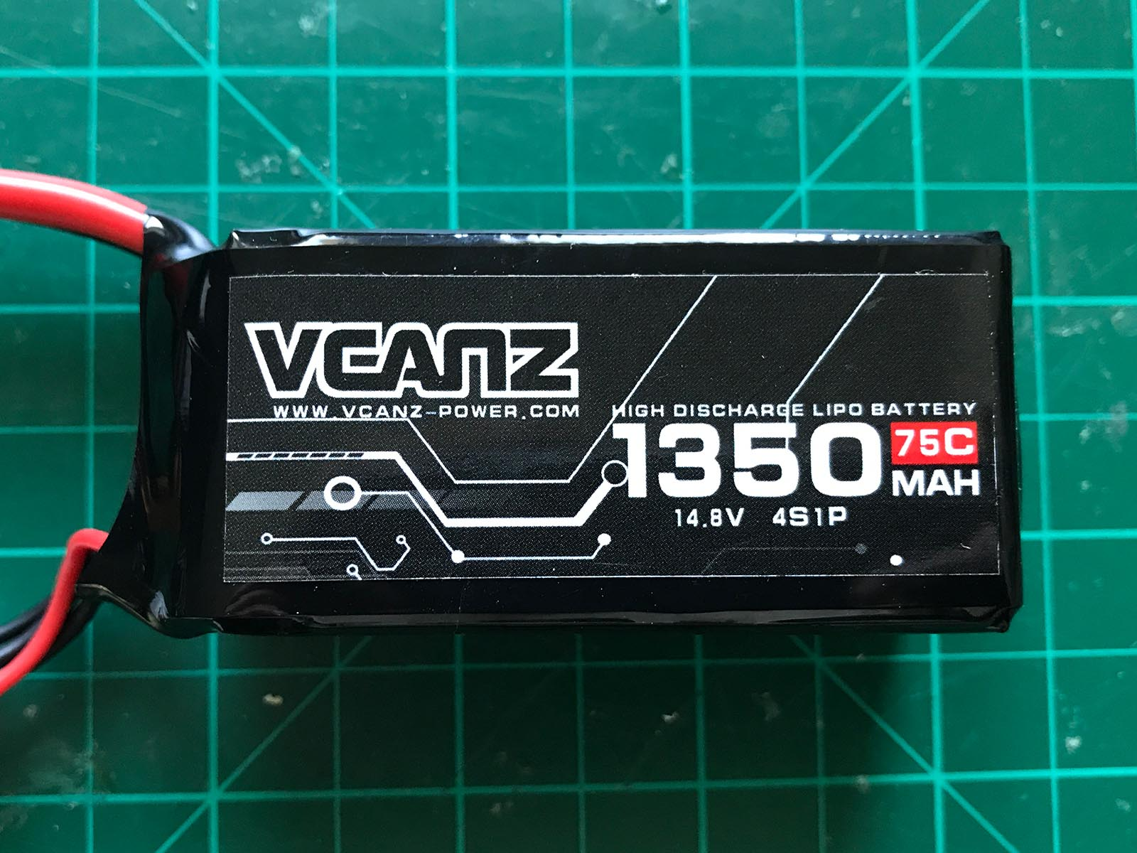VCANZ 4S 1350 mAh 75 C - Front View