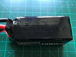 VCANZ 4S 1350 mAh 75 C - Top View