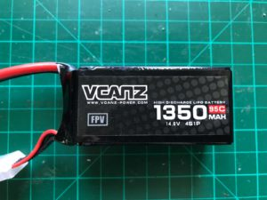 VCANZ 4S 1350 mAh 95 C - Front View