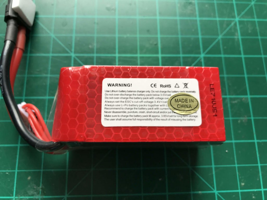 Dinogy MEGA Graphene 2.0 4S 1350 mAh 75 C - Back View