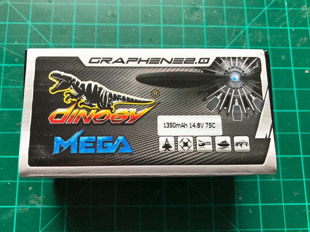 Dinogy MEGA Graphene 2.0 4S 1350 mAh 75 C - Box