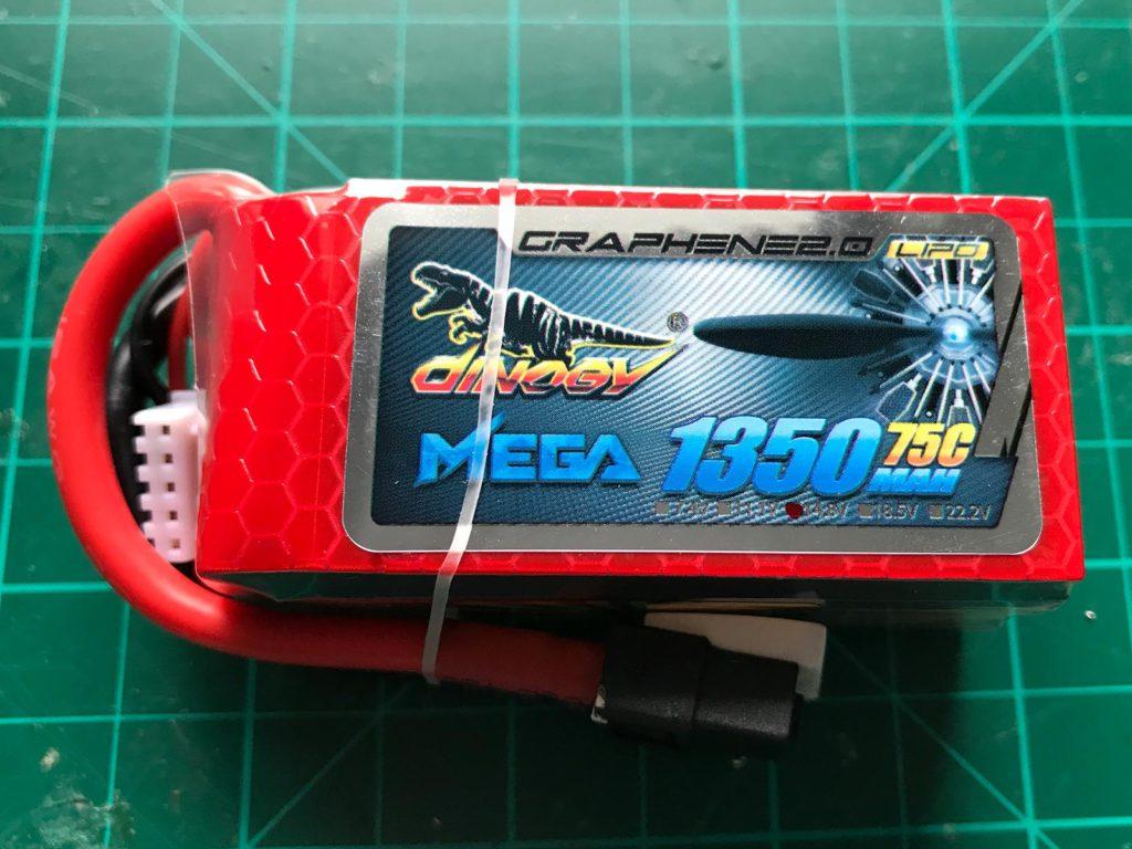 Dinogy MEGA Graphene 2.0 4S 1350 mAh 75 C - Pack
