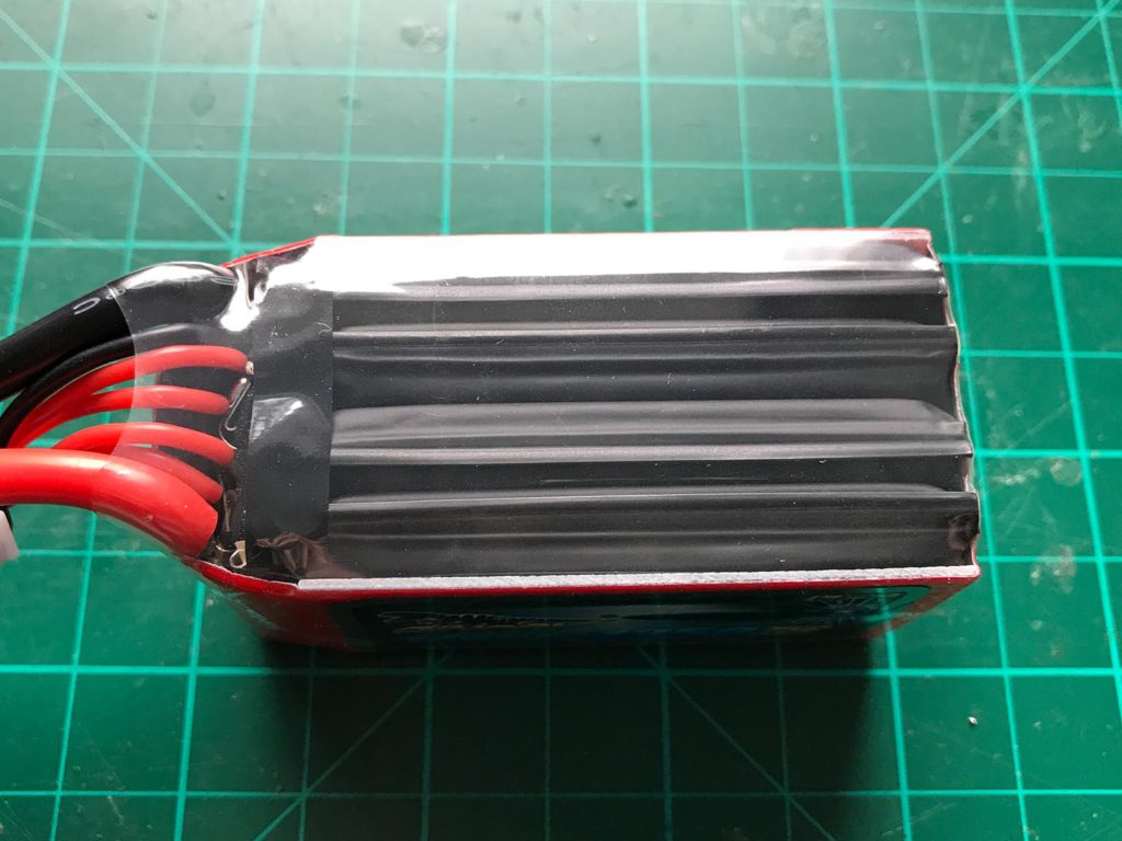 Dinogy MEGA Graphene 2.0 4S 1350 mAh 75 C - Top View