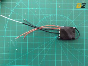 JETI R4 Receiver - Cover with isolation tape