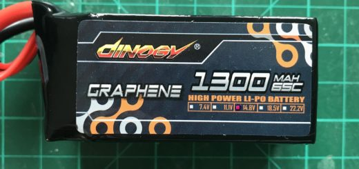 Dinogy Graphene 4S 1300 mAh 65 C - Front View
