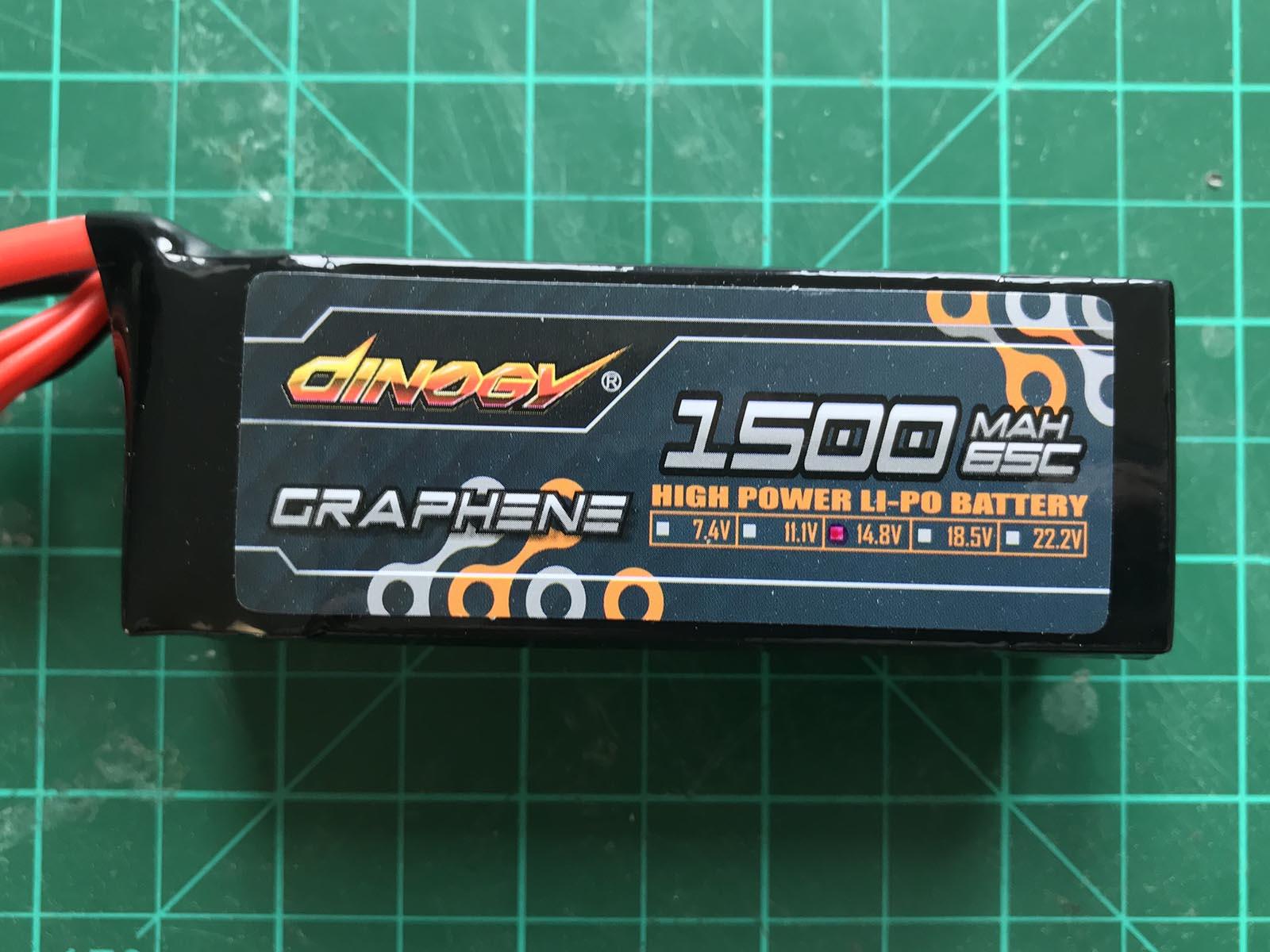 Dinogy Graphene 4S 1500 mAh 65 C - Front View