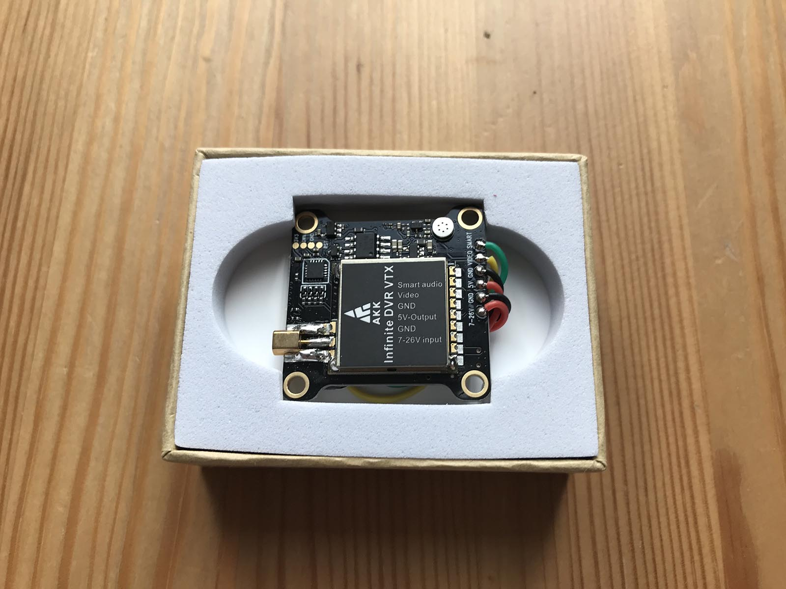 AKK Infinite DVR VTX FPV Transmitter - Protected in Foam