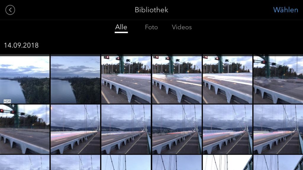 DJI OSMO Mobile 2 - DJI GO App Medienverwaltung