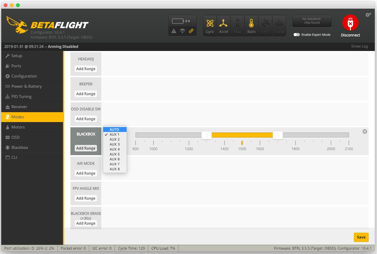 BetaFlight Blackbox mit AUX Switch starten copy