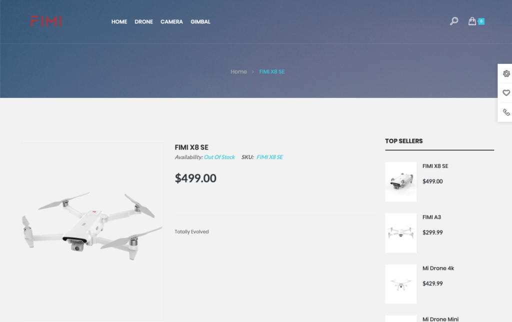 Fimi X8 SE Fimi Shop Page - Out of stock