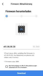 DJI Mimo App - Firmware Update