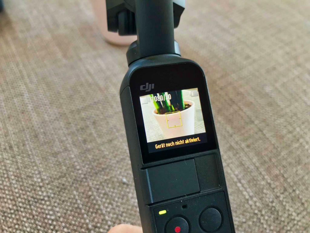 DJI Osmo Pocket - Aktivierung erforderlich
