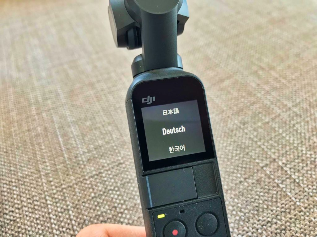 DJI Osmo Pocket - Setup