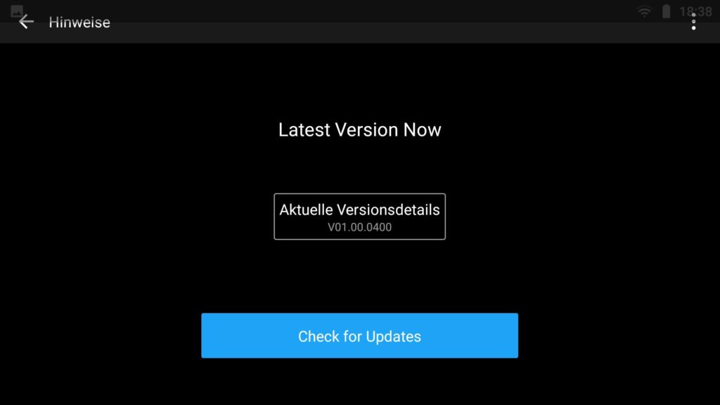 DJI Smart Controller Update 0 Prozent Fehler - Versionsanzeige