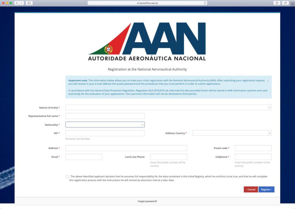 Drohnen-Gesetze und Regeln in Portugal - e-AAN Registrierung
