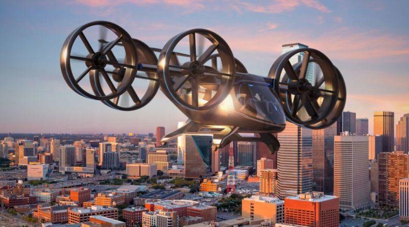 Bell Nexus Drohnen Taxi in der Luft