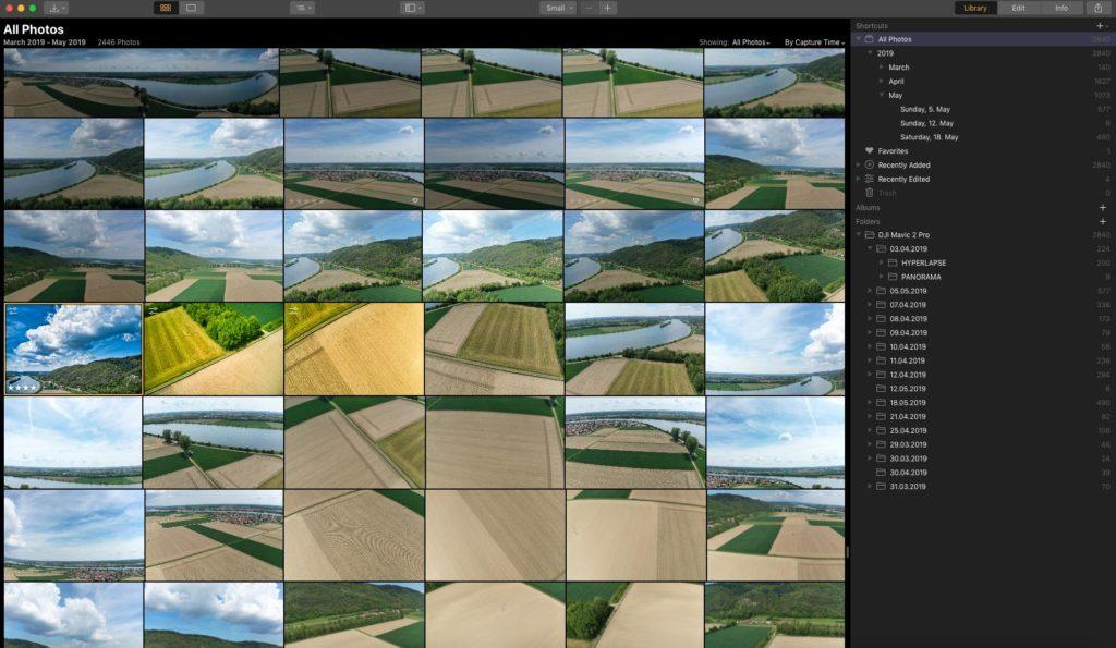 Luminar Katalog mit Fotos - Luminar 3.1