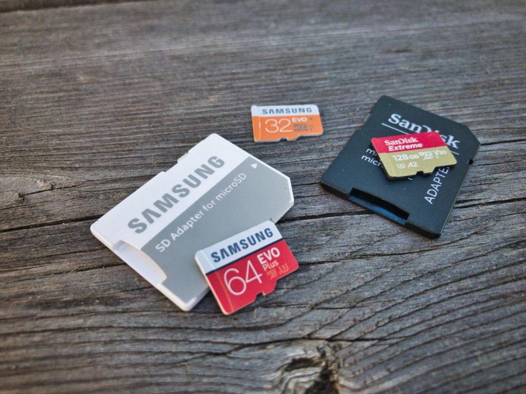 SD-Karten Drohen Guide - Verschiedene SD-Karten und Adapter