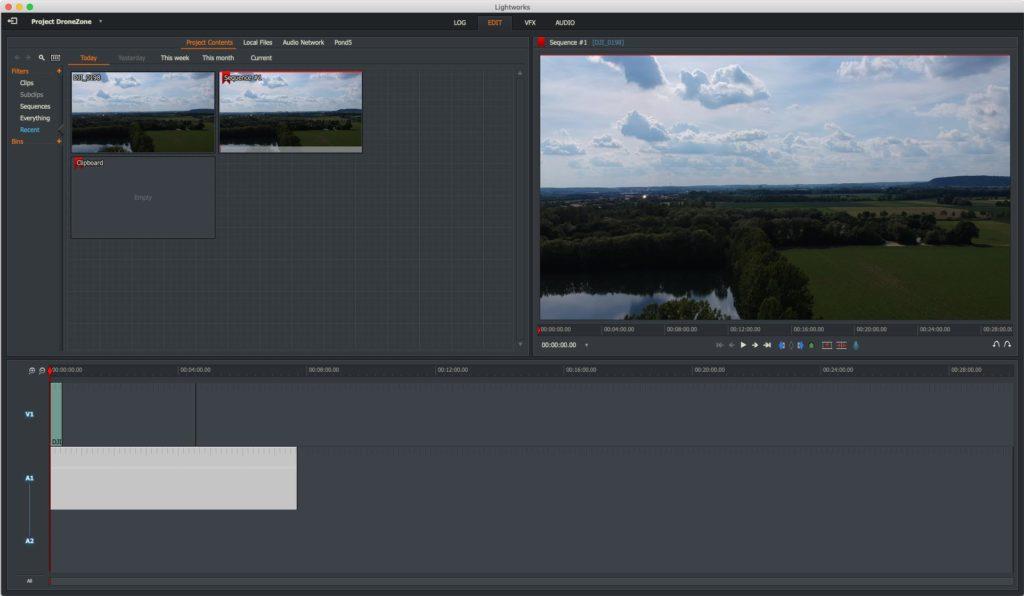 Lightworks 14 - Videoschnitt für Drohnenvideos